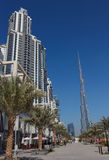 General view of the central area of the city Dubai Royalty Free Stock Image