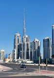 General view of the central area of the city Dubai Royalty Free Stock Photo