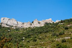 General view of Chateau Peyrepertuse Stock Image