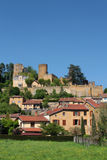 General view of Chatillon d'Azergues Stock Image