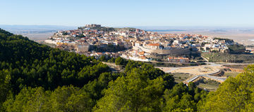 General view of Chinchilla de Monte-Aragon. Albacete, Spain stock photo