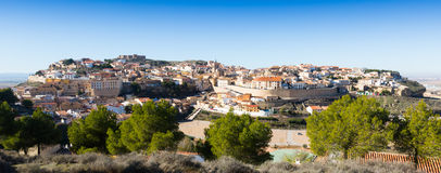 General view of  Chinchilla de Monte-Aragon Royalty Free Stock Images