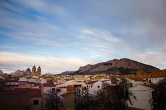 General view with church of Velez Rubio, Almeria Province, Andalucia, Spain, Western Europe. Royalty Free Stock Photos