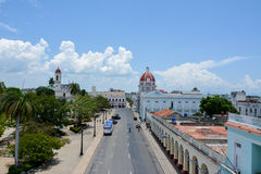 General view of Cienfuegos. Great view of Cienfuegos square, from Ferrer Palace, Cienfuegos royalty free stock photos