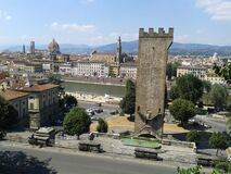 General view of the city and the Cathedral, Florence, Italy