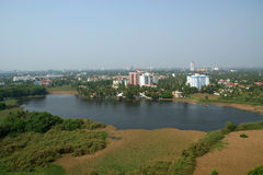 General view of the city, Cochin (kochi). Kerala, South India royalty free stock photography