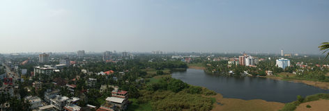 General view of the city, Cochin (kochi), Kerala, South India.  stock photos