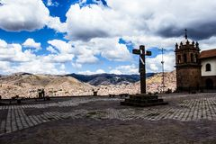 General view of the city of Cuzco, Peru Royalty Free Stock Images
