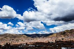 General view of the city of Cuzco, Peru Stock Photos