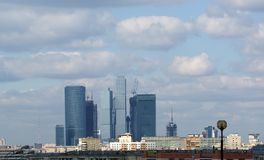 General view of the city of Moscow Stock Photography
