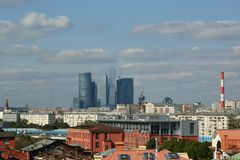 General view of the city of Moscow Royalty Free Stock Images