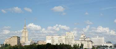 General view of the city Moscow with a high point Stock Photos