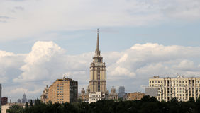 General view of the city Moscow with a high point Stock Photo