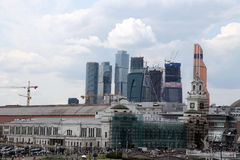 General view of the city Moscow Royalty Free Stock Photos