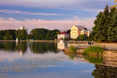 General view city of Ternopil Royalty Free Stock Image