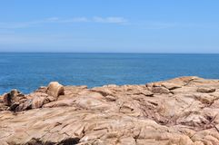 General view of the coast of Cabo Polonio, Rocha. Uruguay royalty free stock image
