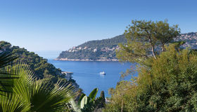 General view of the coast of the French Riviera Stock Photography