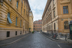Cozy street in Rome, Italy. General view of a Cozy street in Rome, Italy Royalty Free Stock Images