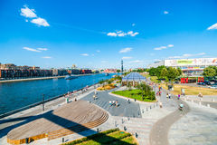 The general view of Crimean embankment of Moscow Royalty Free Stock Photography