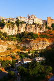 General view of Cuenca in sumer. Castilla-La Mancha, Spain stock photography