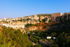 General view of Cuenca. In sunny morning. Castilla-La Mancha, Spain royalty free stock image