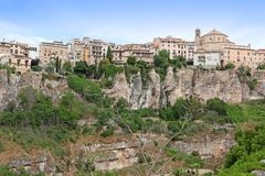 General view of Cuenca town in the morning Stock Images