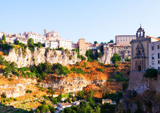 General view of Cuenca town in summer morning Stock Photos