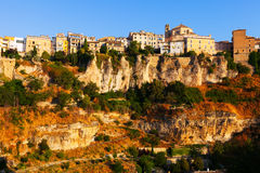 General view of Cuenca town in sunny morning Royalty Free Stock Photography