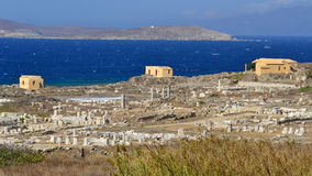 General view on Delos island Royalty Free Stock Image
