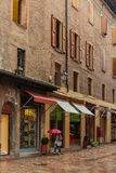 General view of the downtown streets Bologna italy Stock Photos