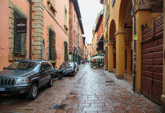 General view of the downtown streets Bologna italy Stock Images