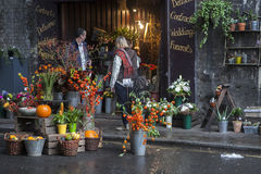 A general view of a flower shop in Borough market, London, UK Stock Photo