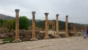 General view of the forum, ruin  of djemila , algeria Stock Images