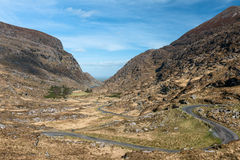 General view of Gap of Dunloe Ireland. Gap of Dunloe in Kerry,Ireland Stock Photo