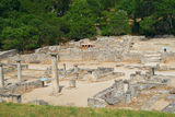 General view of Glanum. France Stock Images