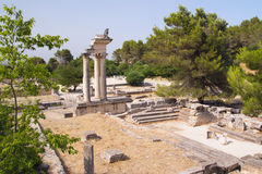 General view of Glanum (Provence, France) Royalty Free Stock Photography