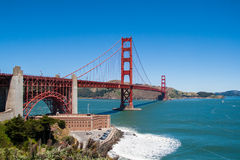 General view of Golden Gate. San. Golden Gate daylight view. San Francisco, California. USA Royalty Free Stock Photography