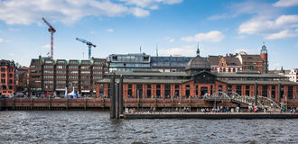 General view of Hamburg harbor Stock Photography