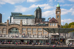 General view of Hamburg harbor Royalty Free Stock Photo