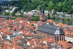 General view of Heidelberg city Royalty Free Stock Images