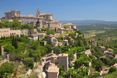 General view of hiltop village of Gordes. Royalty Free Stock Image