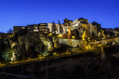 General view of the historic city of Cuenca, Spain stock photography