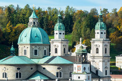 General view of the historical center of Salzburg Royalty Free Stock Image