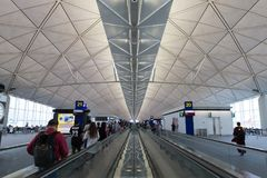 Hong Kong International Airport. General view of Hong Kong International Airport Terminal 1 Stock Photo