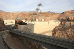 General View of the Hoover Dam Stock Images