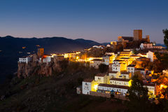 General view of Hornos de Segura in night. Andalusia. Spain stock photography