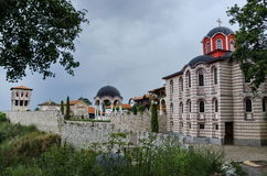 General view of inner  yard  in restored Montenegrin or Giginski monastery Stock Images