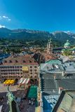 General view of Innsbruck in western Austria. Royalty Free Stock Photo