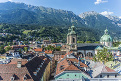 General view of Innsbruck in western Austria. Stock Images