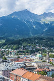 General view of Innsbruck in western Austria. Royalty Free Stock Images
